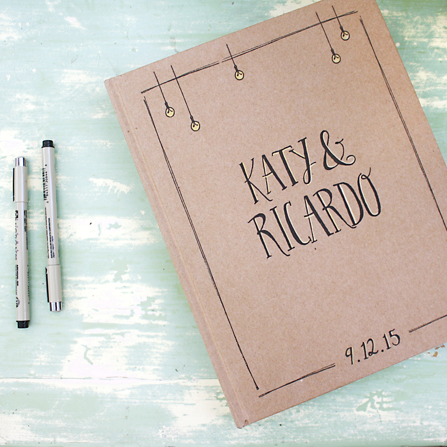 illustration and design by Lauryn Medeiros, photography by Rebecca Mulberry, Katy, Ricardo, Wedding, art, hand typography