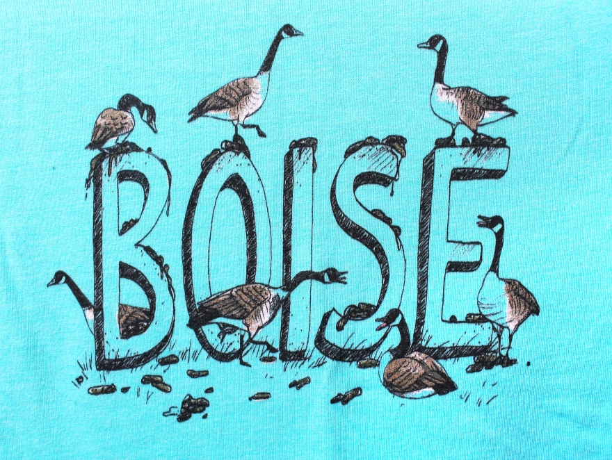 T-shirt design by Lauryn Medeiros, art, illustration, typography, animal, geese, humor, Boise, Idaho