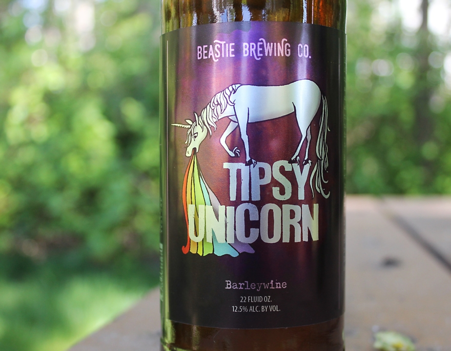 graphic design by Lauryn Medeiros, illustration, beer, labels, fantasy, magical, unicorn